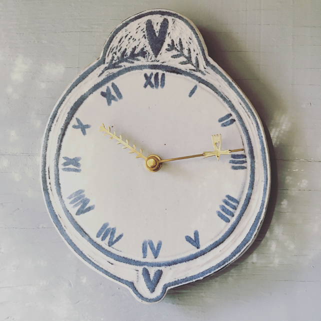 Ceramic Folk Clock small