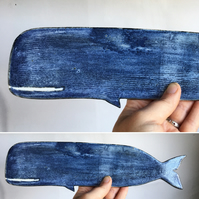 Ceramic Whale wall hanging
