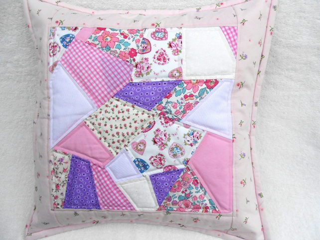 Quilted Crazy Patchwork Cushion Cover Folksy