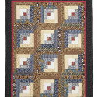'Keep the Home Fires Burning' Patchwork Quilt Throw