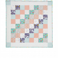 'Up, Up and Away' Patchwork Quilted Blanket Playmat