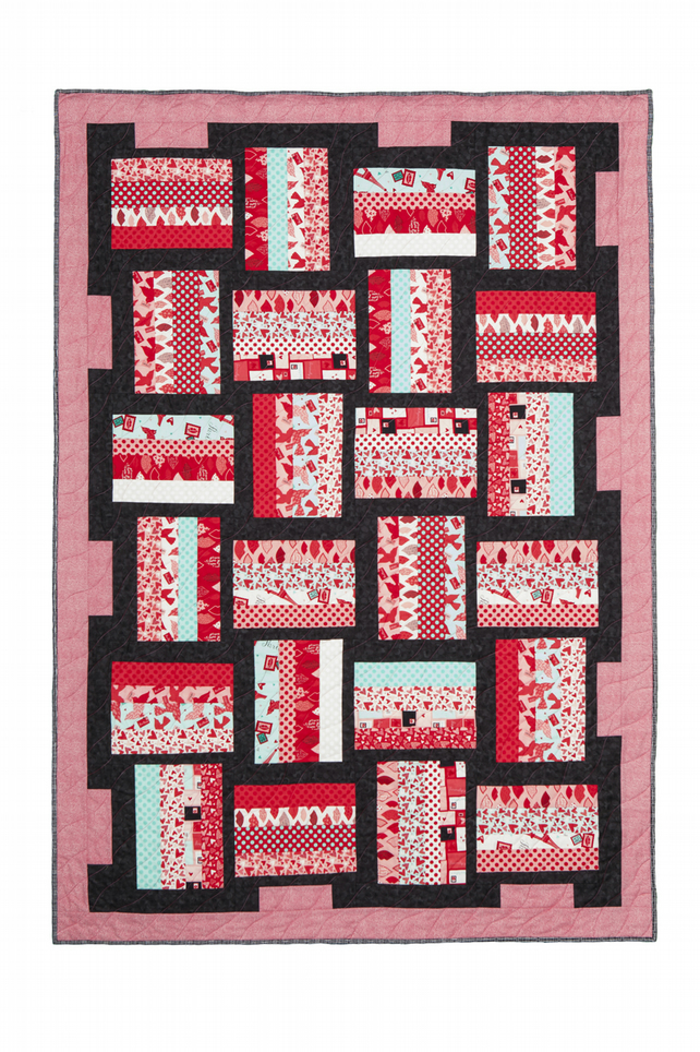 'Love is in the Air' Romantic Patchwork Quilt