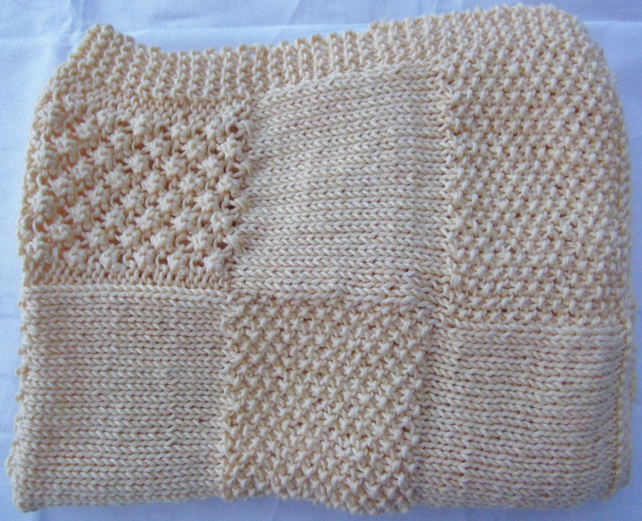 Hand Knitted Baby Blanket - Folksy