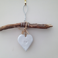 Unique Driftwood Loveheart hanger, handmade, one off design, home decor