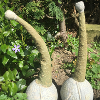 One off, Ceramic pods, sculpture, garden ornament, stoneware, pottery handmade