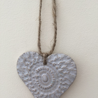 Unique Loveheart hanger, ceramic lovehearts, home decor, pottery, gift idea