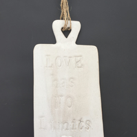 Ceramic novelty hanging board, home decor,gift idea, Cafe, kitchen