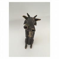 SALE- Ceramic cow, hand made one off design, gift idea, home decor,