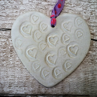 Bespoke Loveheart hanger, ceramic lovehearts, gift idea, home decor, pottery