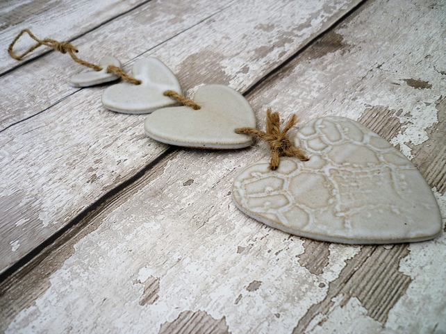 Bespoke Heart hanger, one off, gift idea, lovehhearts, pottery, ceramics