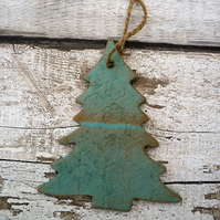 Ceramic tree hanger decoration, garden ornament, gift idea, handmade pottery