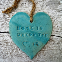One-off  Loveheart hanger, ceramic lovehearts, gift idea, home decor, pottery