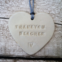 SALE-Loveheart hanger, ceramic lovehearts, gift idea, home decor, pottery,