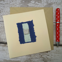 Handmade bespoke Gift card, one off design, blank greetings card