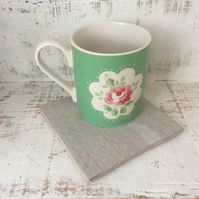 Ceramic coaster, tea pot stand,candle stand, home decor, gift idea, lovehearts