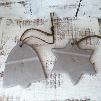 Bespoke Ceramic christmas decorations, ceramic hanger, decoration, gift idea,