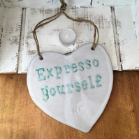 Handmade Ceramic novelty hanging boards, home decor, kitchen, cafe decor