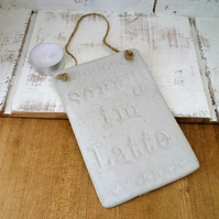 One off, Ceramic hanging novelty boards, kitchen, cafe, restaurant, home decor