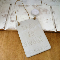 Handmade, Ceramic novelty hanging boards, gift idea,kitchen, home decor