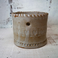 Ceramic Tea light holder, handmade one off design