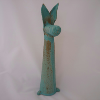 Ceramic animal, handmade, pottery, art, ceramics, garden, gift idea, present,