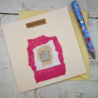 Handmade, bespoke Gift card, one off design, birthday card, greetings card