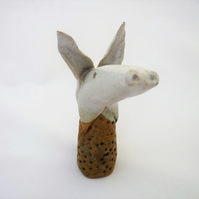 Clay animal, unique ceramic animal, one off, clay, pottery, gift idea,