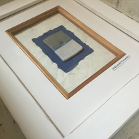Ceramic Picture, box frame hand made picture