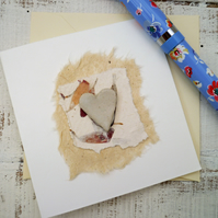 Mini hand made ceramic gift card, keepsake card