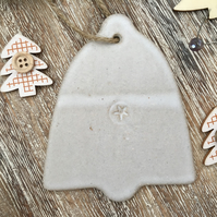 Christmas decoration, bell ceramic christmas, ceramic hanger, handmade decor