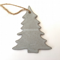 Ceramic tree hanger, christmas decoration, garden ornament, gift idea,UK
