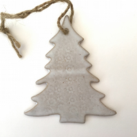 Unique Ceramic tree hanger decoration, garden ornament, gift idea, home decor,
