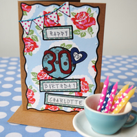 Birthday  Card Personalised