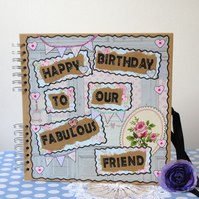 Scrapbook Birthday Album Personalised