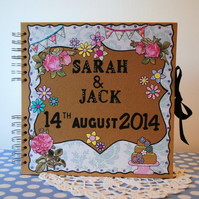 Scrapbook Wedding Guestbook Personalised