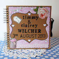 Scrapbook Wedding Album Personalised