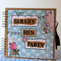 Scrapbook Hen Party Book - Personalised Scrapbook