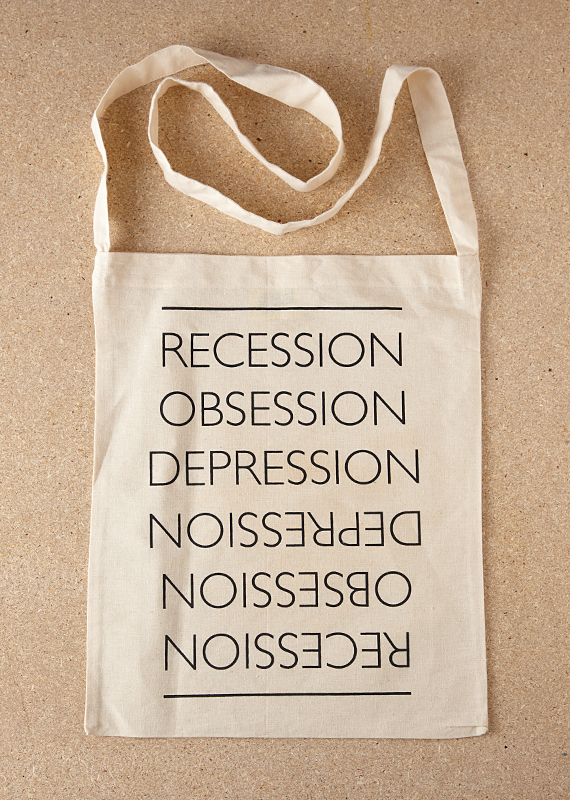The Great Recession (Sling Tote Bag in Black)