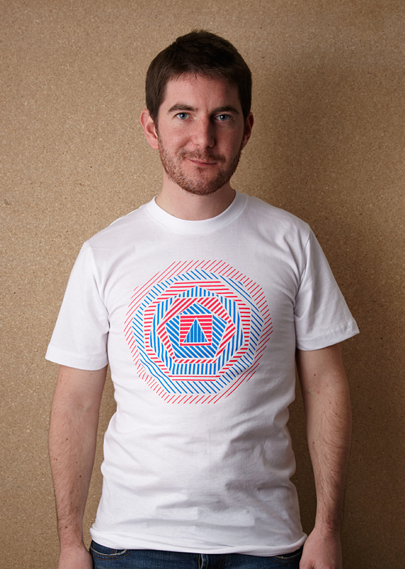 Geometric (Unisex White T Shirt – Screen printed on American Apparel)
