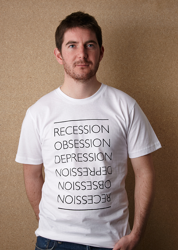 Sale!! The Great Recession (Unisex White T Shirt – Screen printed by hand)