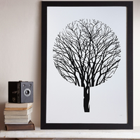 Urban Forest (A2 Screen print in Black – Limited Edition)