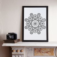 Chain Reaction (A3 Limited edition screen print – Black)