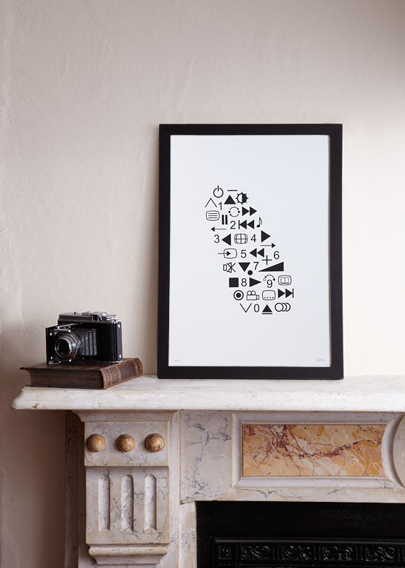 Sale! Control Freak (A3 Limited edition screen print – Black)