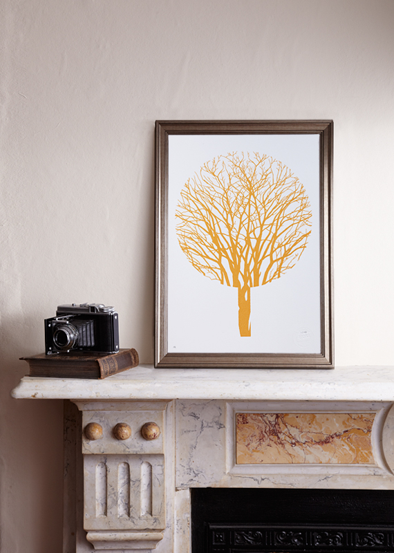 Urban Forest (A3 Limited edition screen print – Gold)