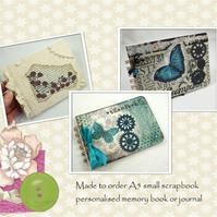 Scrapbook Album 7 x 5, Made to Order, Personalised - your theme & colour