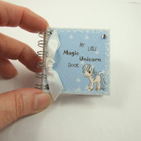 Unicorn Miniature Notebook, Emergency Contact, Address Book, Blue