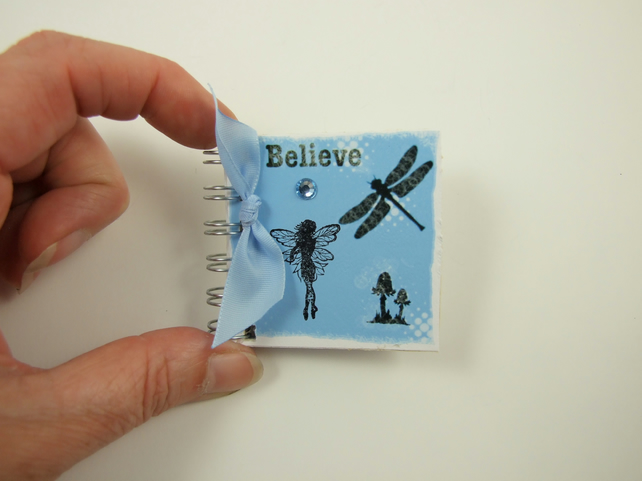Miniature Fairy Notebook, Believe, Emergency Contact, Address Book, Blue