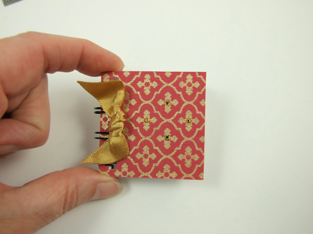 Miniature Notebook, Emergency Contact, Address Book, Pink & Gold