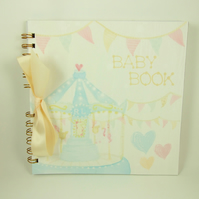 Baby Book Handmade 8 x 8 inch Album, Memory Book, Cream