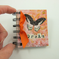 Miniature Book, Black & White Butterfly, Emergency Contact, Address Book